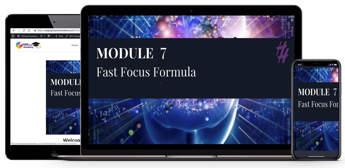 Fast Focus Formula