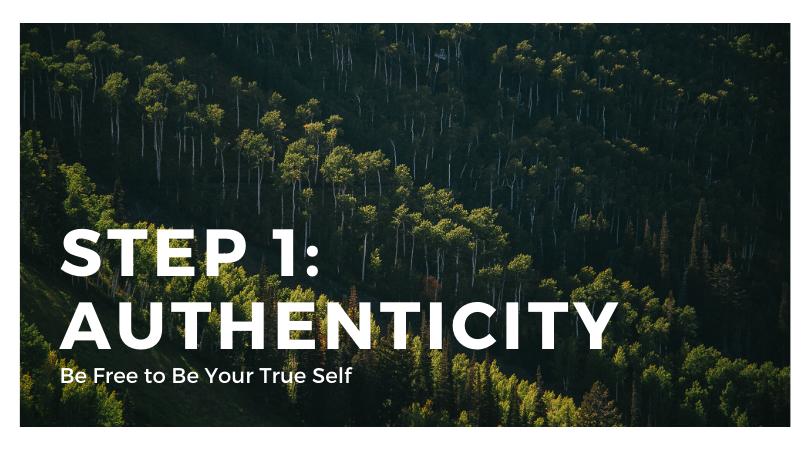 Step 1: Authenticity